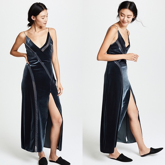 14844712340b20 Free People Dresses | Nwt Spliced Velour Maxi Dress M | Poshmark